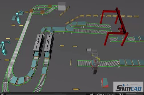 3d Conveyor Systems simulation