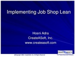 Implementing Job Shop Lean