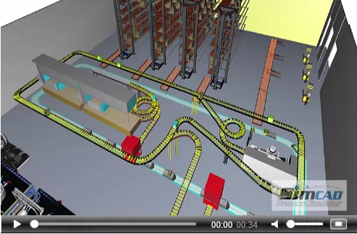 warehouse modeling and simulation videos and images with